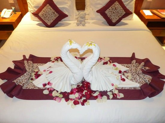 Bed decoration for our wedding anniversary picture of the lokha