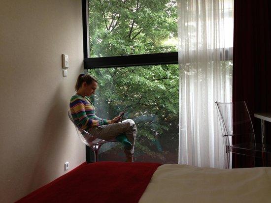 Design Metropol Hotel Prague: Вид из окна