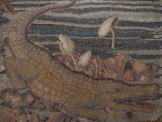 Museo nazionale romano mosaico paesaggio nilotico for Mosaico romano