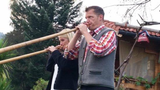 Landhotel Alphorn : Die Alphornklänge der Wirtepaars waren ein Genuss!