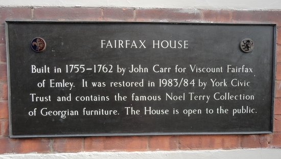 Fairfax House : Plaque 1