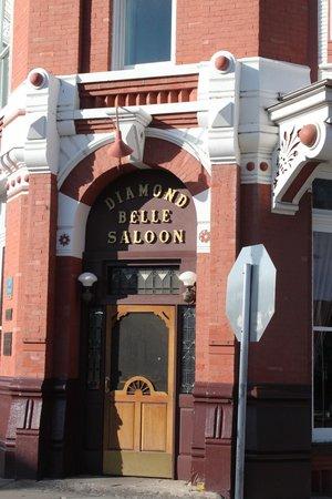 Diamond Belle Saloon: the entrance