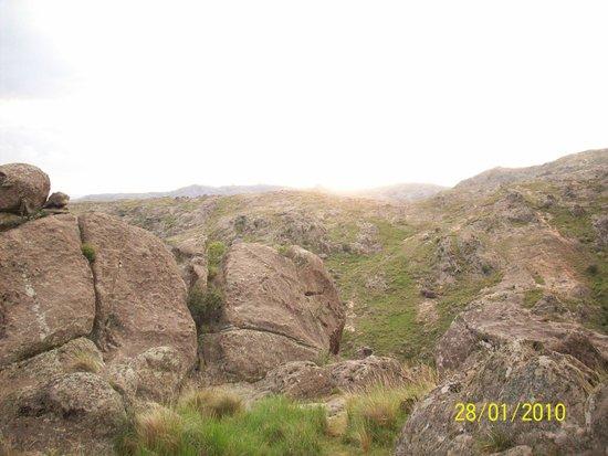 Río Subterráneo de la Cumbrecita: Panoramica de las sierras