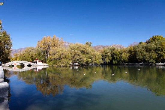 zong jiao lu kang: View of the lake