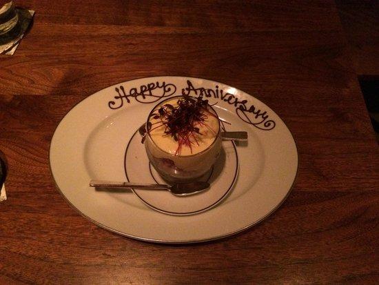 Blue Duck Tavern : Dessert con dedica