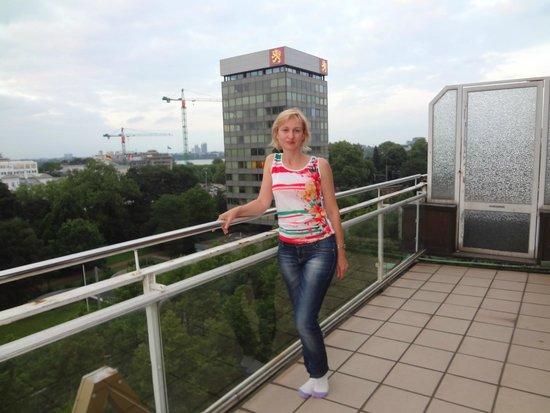 Hotel Alster-Hof: Вид с балкона