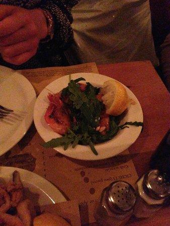 Polpo Soho: Garlic and chilli prawns