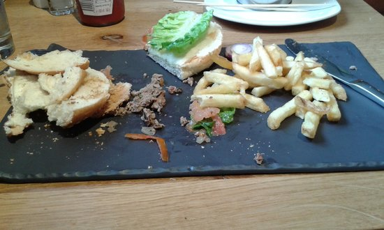 All Bar One - Edinburgh: What's wrong with a plate?