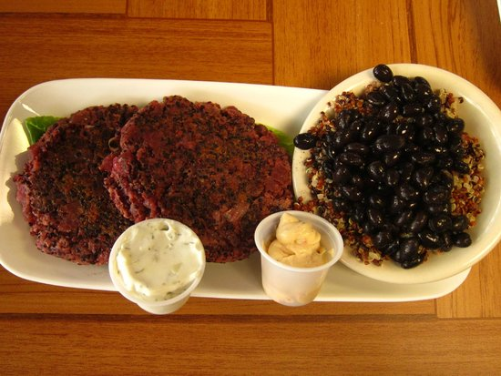 The Urban Vegan: Red Beet Burgers with Black Bean Quinoa