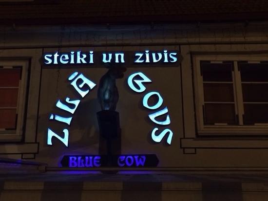 Zilā Govs : вывеска