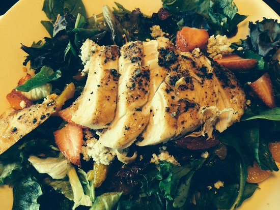 California Chicken Salad comes with Balsamic Vinaigrette, but I always use French Dressing. I ha