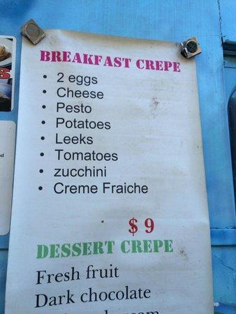 Cecilia's Kitchen: breakfast crepe ingredients