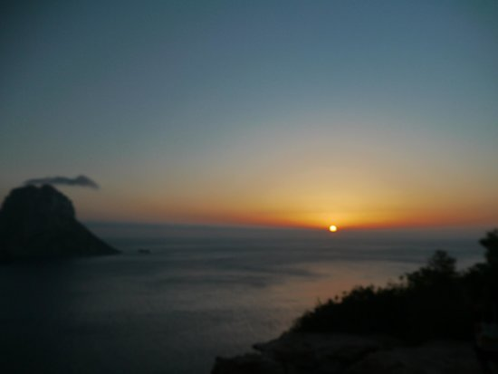 Hostal Mar y Huerta: View from another part of Ibiza, view from room boring!