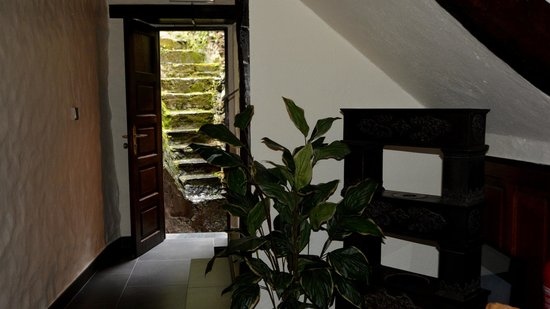 Auberge Aal Veinen : Stone steps out the back door