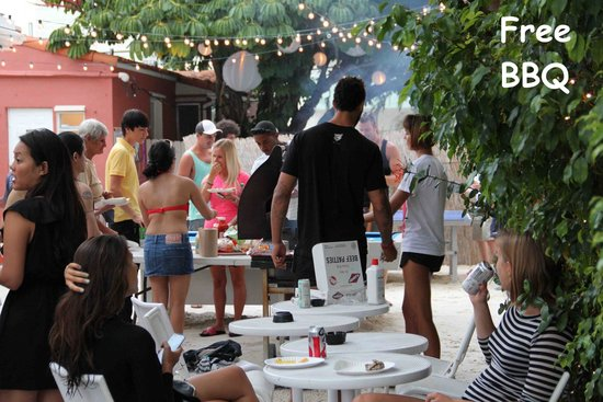 Bbq Picture Of Bikini Hostel Cafe Beer Garden Miami Beach Tripadvisor