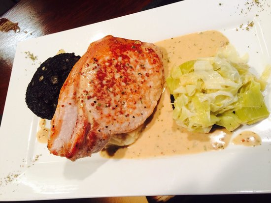 The Bay Horse: One for the taste buds pork chop on the new menu BEAUTIFUL !!!