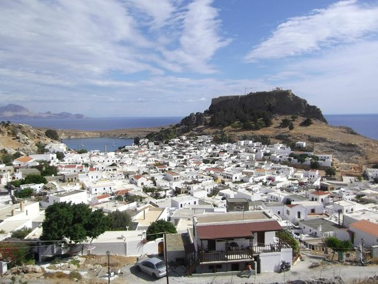 Lindos town - Picture of Village of Lindos, Lindos ...
