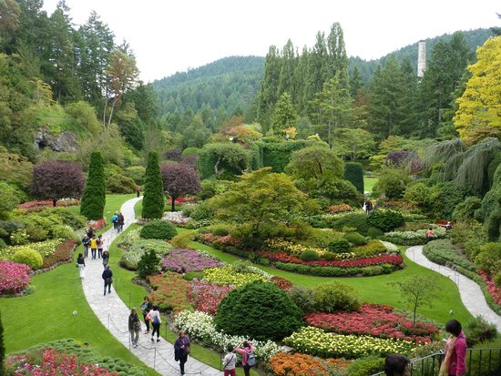 The Beautiful Fountain Picture Of Butchart Gardens Central Saanich Tripadvisor