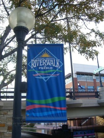 Historic Arkansas Riverwalk of Pueblo: view under bridge