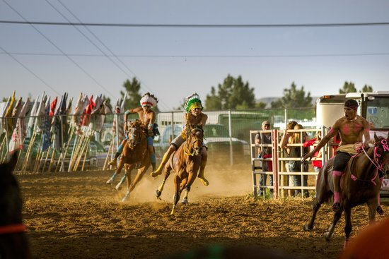 Indian Relays at Sheridan's WYO Rodeo