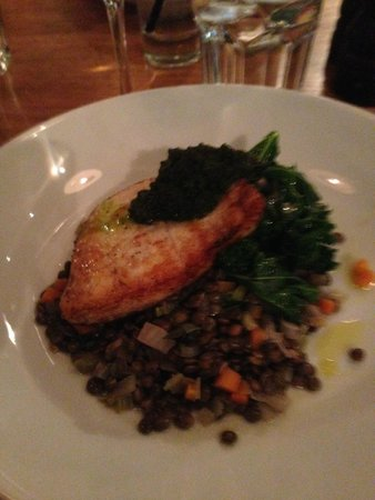 Tom's Kitchen: Halibut served with lentils special