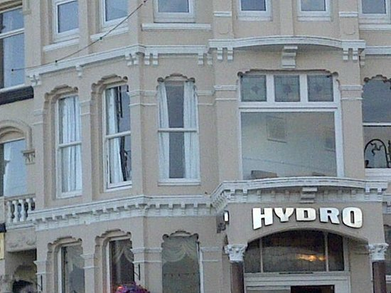 The Hydro Hotel: My room on the left next to the big window which was a library.