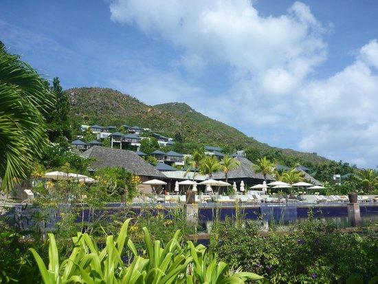 Raffles Seychelles: View of resort
