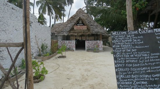 The Stone Culture Restaurant : What it looks like from the beach