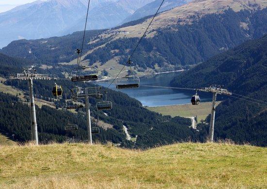 Gerlos, ออสเตรีย: Blick zum Stausee