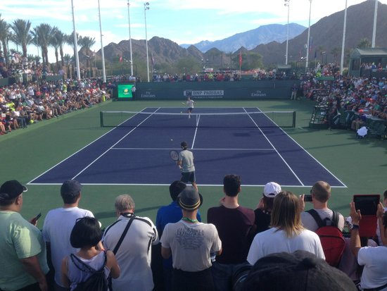 Roger Federer Entrenando Picture Of Indian Wells Tennis Garden Indian Wells Tripadvisor