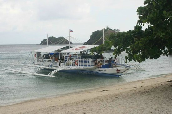 Sambawan Island: foreigners from Malapascua--in Smabawan for diving