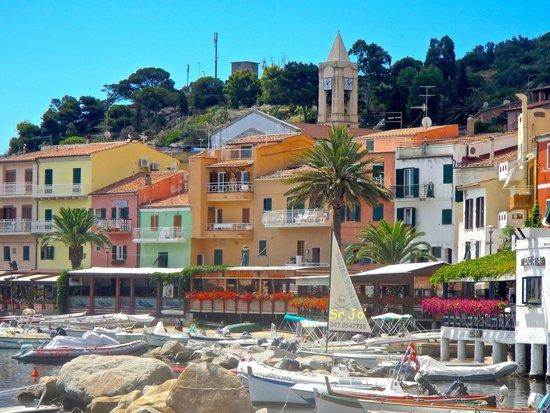 Veduta di Giglio Porto - Foto di Hotel Castello Monticello, Isola ...