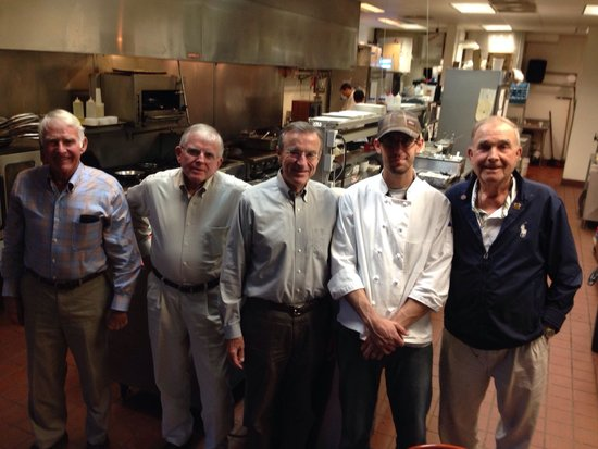 Square Root: The Bill Walker Sea Island GA golf group at the Four Square Chefs Table