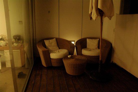 Alenti Sitges Hotel & Restaurant: patio privé