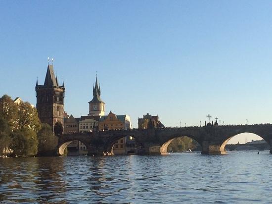 Venice of Prague: Nice views from the boat towards Charles Bridge