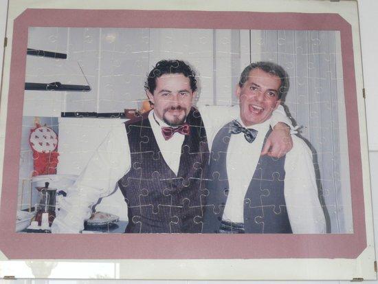 Abitazione Pigneto : Photo in kitchen.  Gorgeous young Giorgio is on right.