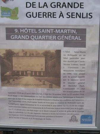 Le Pavillon St Martin : Marking Events of October 25, 1918