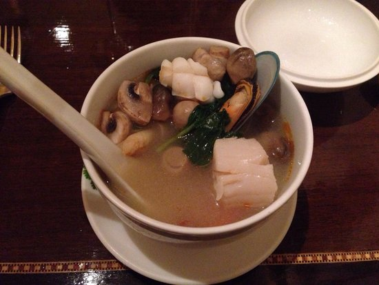 Thai Balcony: Fisherman soup! Scallops,muscles, prawns, crab so much in one dish. It's so fresh and healthy an