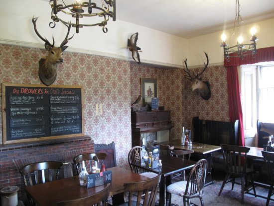 The Drovers Inn: one of the dining rooms