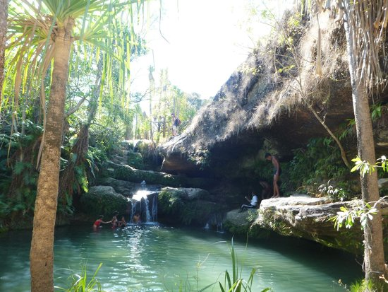 Isalo, Madagascar: one of the pools