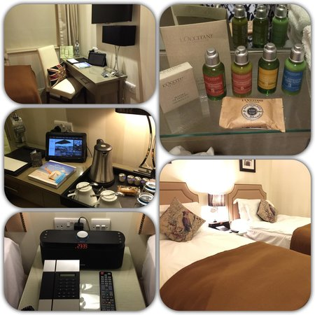 Hotel Xenia Autograph Collection: Our small compact but very comfortable room on the 4th floor 😃