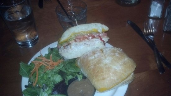 Beerhive Pub: Grilled Turkey Sandwich with Side Salad