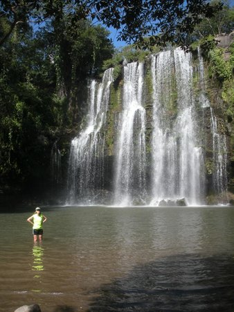 Costa Rica Unique Transfers & Tours: gorgeous waterfall. bring a swim suit! lots of basilisk lizards in this area