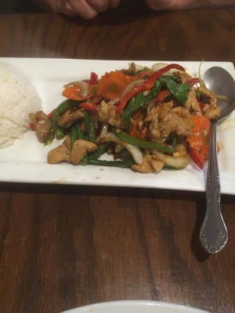 Pork kaprow - chilli and basil stir fry - Picture of Aura Thai ...