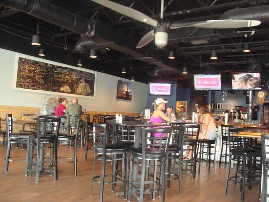 Indoor seating and the beer list