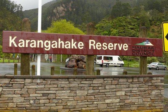 Karangahake Gorge Historic Walkway : Karangahake Reserve sign