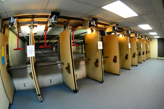 Double Action Indoor Shooting Center & Gun Shop: A view of our rifle range.  This is the longest indoor range in the State of Michigan