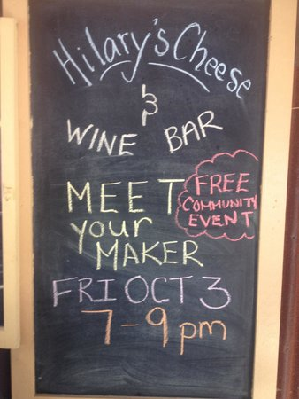 Hilary's Cheese Cowichan Bay: Also a wine bar!