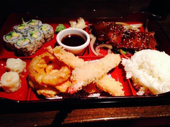 Aki Steak House and Sushi Bar : Bento Box with the steak option!
