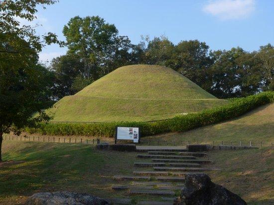 Takamatsuzuka Tomb: 古墳全景です